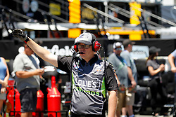 June 22, 2018 - Sonoma, CA, U.S. - SONOMA, CA - JUNE 22: A crewman for Jimmie Johnson waits for him during practice for the Monster Energy NASCAR Cup Series - Toyota/Save Mart 350 at Sonoma Raceway in Sonoma, CA. (Photo by Larry Placido/Icon Sportswire) (Credit Image: © Larry Placido/Icon SMI via ZUMA Press)
