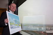 NO FEE PICTURES <br /> 14/2/16 Irish Life has announced that it plans to increase its presence in Dundalk, Co. Louth, with the building of a new Irish Life Customer Service Centre in Finnabair Business Park. The proposed new site area is 1.6 hectares with an office size of 45,000 sq. feet. The expansion announcement reinforces Irish Life's continued commitment to the local area and its employees based in Dundalk.<br /> Pictured is David Harney, Chief Excutive Irish Life.  Arthur Carron