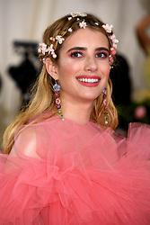 Emma Roberts attending the Metropolitan Museum of Art Costume Institute Benefit Gala 2019 in New York, USA.