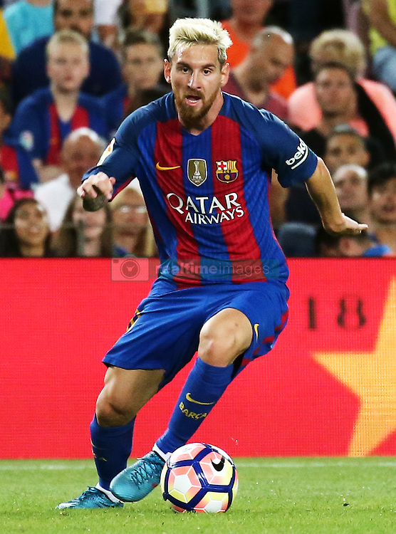 August 10, 2016 - Barcelona, Catalonia, Spain - Leo Messi during the match corresponding to the Joan Gamper Trophy, played at the Camp Nou stadiium, on august 10, 2016. (Credit Image: © Joan Valls/NurPhoto via ZUMA Press)