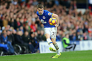 Seamus Coleman of Everton in action. Premier league match, Everton v Sunderland at Goodison Park in Liverpool, Merseyside on Saturday 25th February 2017.<br /> pic by Chris Stading, Andrew Orchard sports photography.