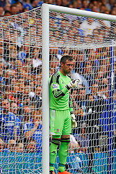 Hull City's Allan McGregor lines up a defensive wall  - Photo mandatory by-line: Mitchell Gunn/JMP - Tel: Mobile: 07966 386802 18/08/2013 - SPORT - FOOTBALL - Stamford Bridge - London -  Chelsea v Hull City - Barclays Premier League