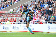 Middlesbrough defender George Friend (3)  controls the ball during the Premier League match between Sunderland and Middlesbrough at the Stadium Of Light, Sunderland, England on 21 August 2016. Photo by Simon Davies.