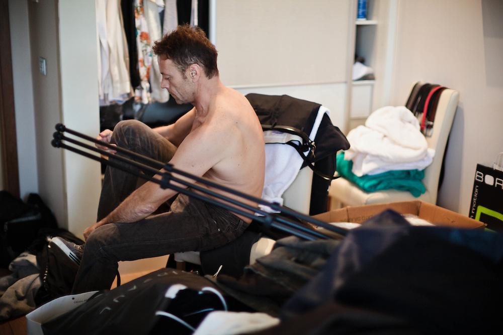 15 NOV 2011 - Budapest (Ungheria) - Rocco Siffredi, attore e produttore porno, nella propria tenuta vicino a casa. Il set ricavato negli edifici della produzione