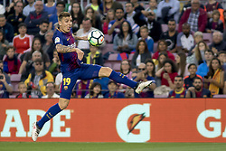 May 9, 2018 - Barcelona, Catalonia, Spain - Lucas Digne during the spanish football league La Liga match between FC Barcelona and Villarreal at the Camp Nou Stadium in Barcelona, Catalonia, Spain on May 9, 2018  (Credit Image: © Miquel Llop/NurPhoto via ZUMA Press)