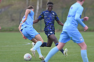 Leeds United midfielder Nohan Kenneh battles for possession during the U18 Professional Development League match between Coventry City and Leeds United at Alan Higgins Centre, Coventry, United Kingdom on 13 April 2019.