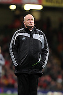 Allblacks head coach Graham Henry looks on before k/o. Invesco Perpetual match, Wales v New Zealand at the Millennium stadium in Cardiff on Sat 27th Nov 2010.  pic by Andrew Orchard, Andrew Orchard sports photography,