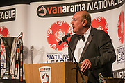 Brian Barwick during the National League Gala Awards Evening at Celtic Manor Resort, Newport, South Wales on 9 June 2018. Picture by Shane Healey.