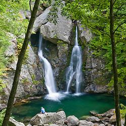 Bish Bash Falls in Bish Bash Falls State Park in Mount Washington, Massachusetts.
