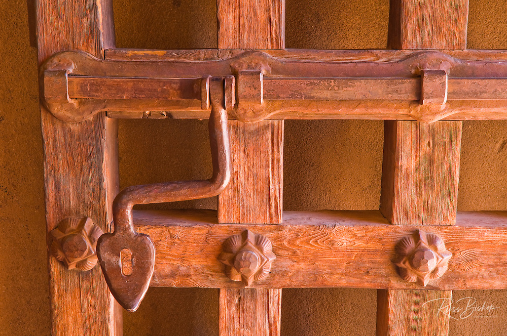 Door detail at Scotty's Castle, Death Valley National Park. California
