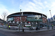 a General view of outside the Emirates Stadium before k/o. The Emirates FA cup, 4th round match, Arsenal v Burnley at the Emirates Stadium in London on Saturday 30th January 2016.<br /> pic by John Patrick Fletcher, Andrew Orchard sports photography.