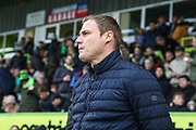 Mansfield Town manager David Flitcroft during the EFL Sky Bet League 2 match between Forest Green Rovers and Mansfield Town at the New Lawn, Forest Green, United Kingdom on 24 March 2018. Picture by Shane Healey.
