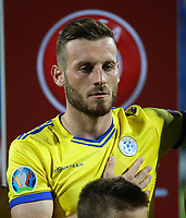 PODGORICA, MONTENEGRO - JUNE 07: Fidan Aliti of Kosovo before the 2020 UEFA European Championships group A qualifying match between Montenegro and Kosovo at Podgorica City Stadium on June 7, 2019 in Podgorica, Montenegro MB Media