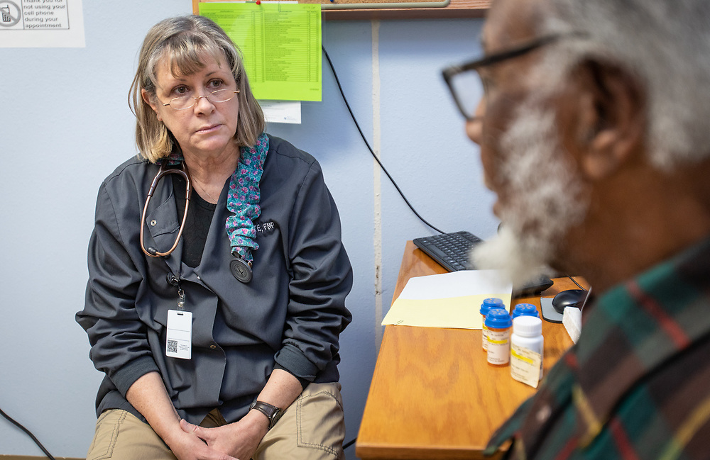 The staff works to help patients at Custer County Medical Center.