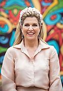 LISSE - Koningin Maxima bezoekt de Keukenhof voor de ondertekening van het muziekakkoord Zuid-Holland een Zeeland van Meer Muziek in de Klas, 11 Mei 2021. Koningin Maxima maakt een tour door Nederland en is aanwezig bij de campagne 50DagenMuziek ter gelegenheid van de 50e verjaardag van Koningin Maxima. Foto: BSR Agency Patrick van Katwijk
