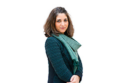 Navina Haidar, curator of Islamic Art at the Metropolitan Museum of Art, poses for a portrait to be used on 82nd and 5th, a web feature. © 2012 MMA, photographed by Jackie Neale Chadwick
