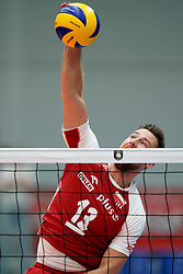 19-09-2019 NED: EC Volleyball 2019 Poland - Ukraine, Amsterdam<br /> First round group D - Poland win 3-0 and is group winner / Michał Kubiak #13 of Poland
