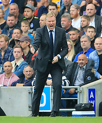 Everton manager Ronald Koeman gestures on the touchline during the Premier League match at the AMEX Stadium, Brighton.