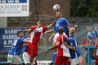 Photo: Pete Lorence.<br />Chesterfield Town v Wycombe Wanderers. Coca Cola League 2. 01/09/2007.<br />Wycombe were desperate to score, but Chesterfield's defence proved to be impenertrable.