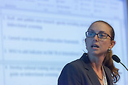 Kerri Viney, Research Fellow at the School of Population Health of Australian National University, presents a summary of the interactive discussions at the global summit on diabetes and tuberculosis in Bali, Indonesia, on November 3, 2015.<br /> The increasing interaction of TB and diabetes is projected to become a major public health issue. The summit gathered a hundred public health officials, leading researchers, civil society representatives and business and technology leaders, who committed to take action to stop this double threat. (Photo: Rodrigo Ordonez for The Union)