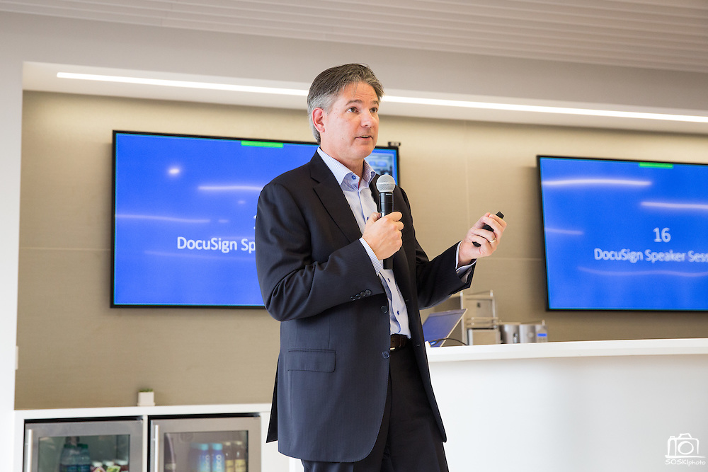 DocuSign EBC grand opening event at DocuSign in San Francisco, California, on September 14, 2015. (Stan Olszewski/SOSKIphoto)