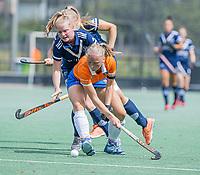 AMSTELVEEN -  Laurien Boot (Bldaal) tijdens de oefenwedstrijd tussen de dames van Bloemendaal en Pinoke   ter voorbereiding van het hoofdklasse hockeyseizoen 2020-2021.  COPYRIGHT KOEN SUYK