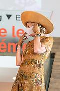 AMSTERDAM, 24-06-2021, Filmmuseum<br /> <br /> Koningin Maxima tijdens een bezoek aan het Eye Filmmuseum in Amsterdam ter gelegenheid van het 75-jarige bestaan. Tijdens het bezoek krijgt zij een presentatie over de diverse activiteiten van het museum: van educatie en programmering tot het nieuwe streamingplatform Eye Film Player. <br /> FOTO: Brunopress/Patrick van Emst<br /> <br /> Queen Maxima during a visit to the Eye Film Museum in Amsterdam on the occasion of its 75th anniversary. During the visit she will receive a presentation about the various activities of the museum: from education and programming to the new streaming platform Eye Film Player.