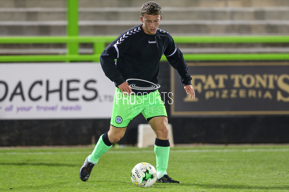 during the FA Youth Cup match between U18 Forest Green Rovers and U18 Cheltenham Town at the New Lawn, Forest Green, United Kingdom on 29 October 2018.