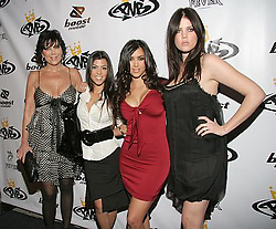 Oct 10, 2006; Los Angeles, CA, USA; KRIS JENNER, KOURTNEY KARDASHIAN, KIM KARDASHIAN and KHLOE KARDASHIAN arriving at the 26th Birthday Bash for Nick Cannon at the grand opening of his clothing store PNB Nation in Los Angeles. Mandatory Credit: Photo by Rachel Worth/ZUMA Press. (©) Copyright 2006 by Rachel Worth