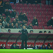 IBBSpor's coach Arif Erdem during their Turkish Super League soccer match Galatasaray between IBBSpor at the TT Arena at Seyrantepe in Istanbul Turkey on Tuesday, 03 January 2012. Photo by TURKPIX