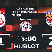 Galatasaray's and Mersin idman Yurdu's during their Turkish Super League soccer match Galatasaray between Mersin idman Yurdu at the AliSamiYen Spor Kompleksi TT Arena at Seyrantepe in Istanbul Turkey on Saturday, 20 December 2014. Photo by Aykut AKICI/TURKPIX