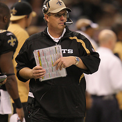 Jan 24, 2010; New Orleans, LA, USA; New Orleans Saints defensive coordinator watches from the sideline during a 31-28 overtime victory by the New Orleans Saints over the Minnesota Vikings in the 2010 NFC Championship game at the Louisiana Superdome. Mandatory Credit: Derick E. Hingle-US PRESSWIRE