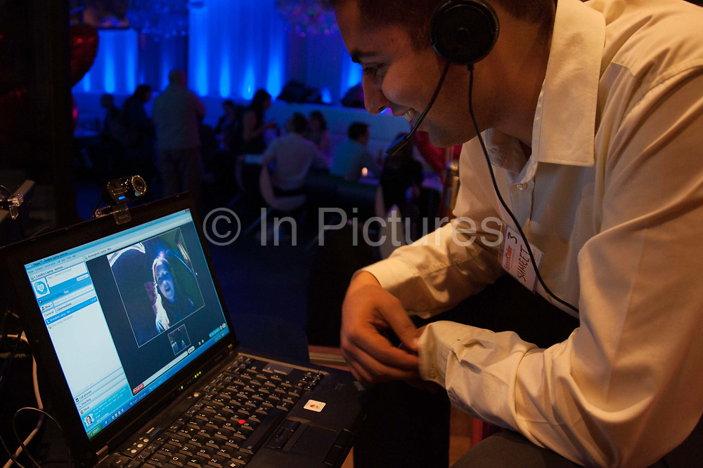 Skype date at a Speeddater event in London, UK. Speed Dater are the market leader in the speed dating sector by providing the biggest events in the UK's most stylish venues. Speed dating is a formalized matchmaking process of dating whose purpose is to encourage people to meet a large number of new people in a short pace of time to find a match.