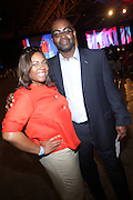 Crystal Worthem and Earl Lucas at The Essence Music Festival Community Outreach Program held at The Ernest Morial Convention Center on July 2, 2009 in New Orleans, Louisiana