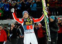 Hopp<br /> Verdenscup<br /> 06.11.2011<br /> Bischofshofen Østerrike<br /> Foto: Gepa/Digitalsport<br /> NORWAY ONLY<br /> <br /> FIS Weltcup, Vierschanzen-Tournee. Bild zeigt den Jubel von Tom Hilde (NOR).