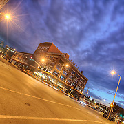Intersection of 20th and Grand Avenue, Kansas City, Missouri.