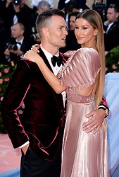 """Tom Brady and Gisele Bundchen at the 2019 Costume Institute Benefit Gala celebrating the opening of """"Camp: Notes on Fashion"""".<br />(The Metropolitan Museum of Art, NYC)"""