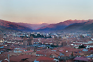 Panorama of Cuzco from the hill of Santa Ana