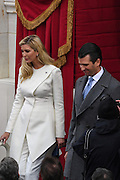 Ivanka Trump walks with her brother Don Trump, Jr. as they arrive for the President Inaugural Ceremony on Capitol Hill January 20, 2017 in Washington, DC. Donald Trump became the 45th President of the United States in the ceremony.