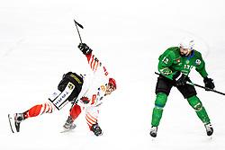 Nejc Stojan of HDD SIJ Acroni Jesenice and Ziga Pance of HK SZ Olimpija during ice hockey match between HK SZ Olimpija and HDD SIJ Acroni Jesenice in fifth game of Final at Slovenian National League, on May 10, 2021 in Hala Tivoli, Ljubljana, Slovenia. Photo by Matic Klansek Velej / Sportida
