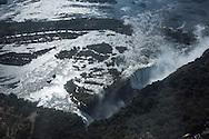 Zimbabwe Air flight over Victoria Falls