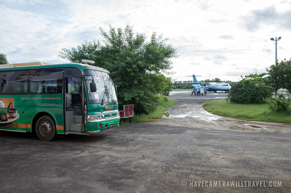 at Nyaung-U Airport, the local airport for the famous archeological zone at Bagan, Myanam (Burma).