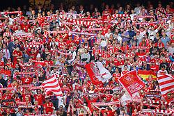 MUNICH, GERMANY - OCTOBER 18: Bayern Munich Fans  during the Bundesliga match between Bayern Munich and Werder Bremen. October 18, 2014 in Munich, Germany. Photo mandatory by-line: Mitchell Gunn