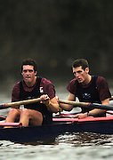 2004_Oxford University Trail Eights, Putney, London:ENGLAND. 14.12.04. .Indians [Middlx].Canadian Athens Silver Medallist [CAN M4-] Barney Williams. [left] and 2005 president Robin Bourne-Taylor.Photo Peter Spurrier.email images@intersport-images.com[Mandatory Credit Peter Spurrier/ Intersport Images] Varsity:Boat Race, Rowing Course: River Thames, Championship course, Putney to Mortlake 4.25 Miles