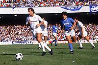 Trevor Francis (Sampdoria) Diego Maradona (Napoli) Napoli v Sampdoria. 23/9/1984. Credit : Colorsport/Andrew Cowie