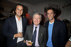 Left to right, CHARLIE GILKES, CHRISTOPHER MORAN and DUNCAN STIRLING at a party to celebrate the opening of Barts, Sloane Ave, London on 26th February 2009.