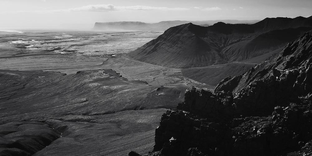 Skaftafell and the Skeidararjokull glacier