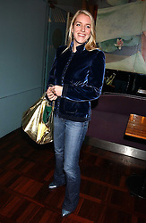MISS LAURA PARKER BOWLES at a party to celebrate the publication of 'E is for Eating' by Tom Parker Bowles held at Kensington Place, 201 Kensington Church Street, London W8 on 3rd November 2004.<br />