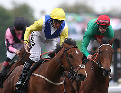 Leodis Dream (centre) riden by Daniel Tudhope wins The Boodles Diamond Handicap Stakes, during Boodles City Day at Chester Racecourse, Chester.