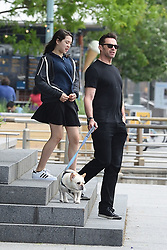EXCLUSIVE: Hugh Jackman races his daughter while out for a walk with wife Deborra and their dogs in NYC. 26 May 2017 Pictured: Ava Jackman, Hugh Jackman. Photo credit: MEGA TheMegaAgency.com +1 888 505 6342